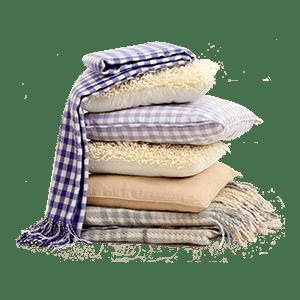Подушки, одеяла, пледы
